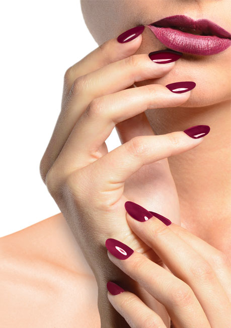 Polished Mobile Nails - Calgel burgundy nails
